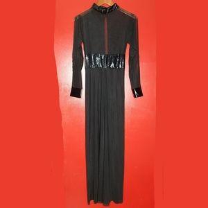 Dresses & Skirts - Long Sheer Maxi Dress Cape Cloak Corset